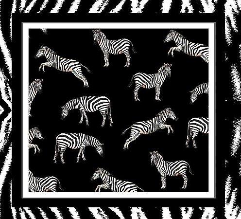 Pareô Zebra Preto
