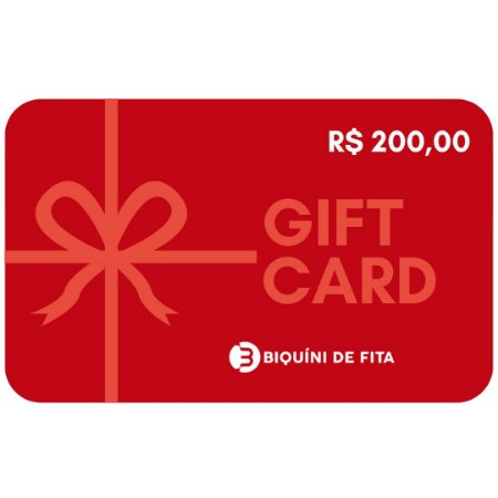 Gift Card R$ 200,00