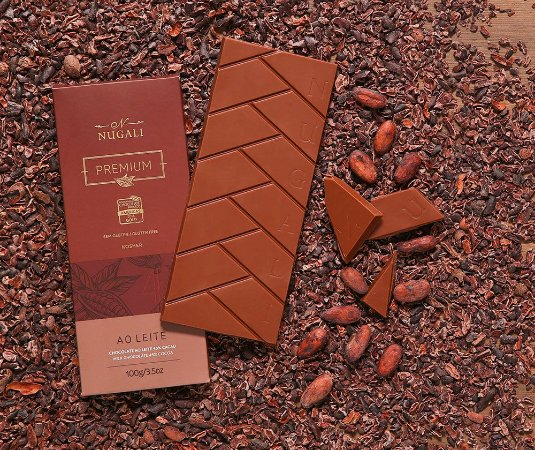 Tablete chocolate ao leite