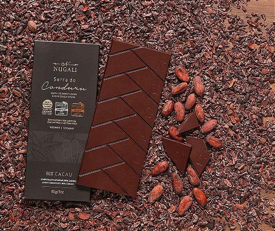 Tablete chocolate Serra do Conduru 80 % Cacau