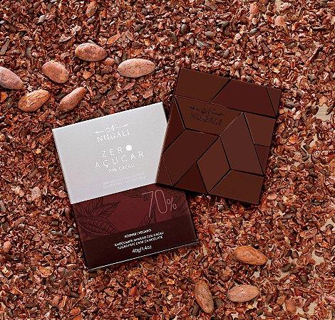 Tablete chocolate amargo 70 % zero açúcar