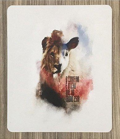 Quadro Decorativo Cordeiro e Leão