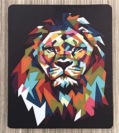 Quadro Decorativo Leão Colorido