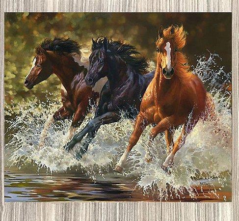 Quadro Decorativo Cavalos na Água