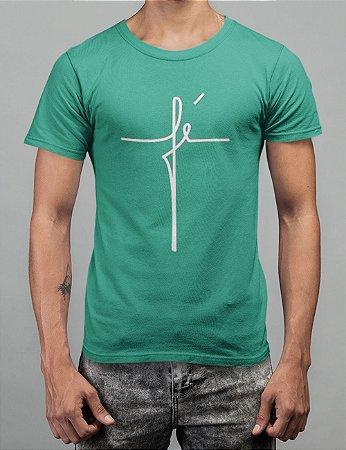 Camiseta Turquesa Fé