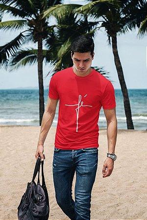 Camiseta Vermelha Fé