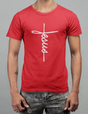 Camiseta Vermelha Jesus