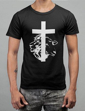 Camiseta Preta Cordeiro e Leão