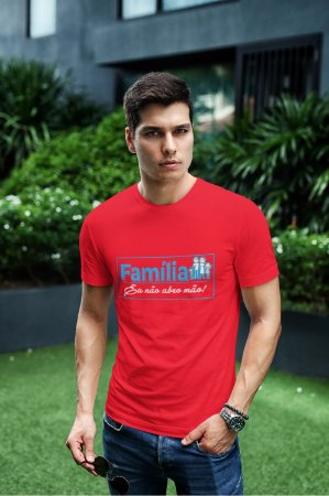 Camiseta Vermelha Família