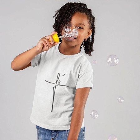 Camisa Infantil Branca Fé