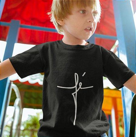 Camisa infantil Preta Fé