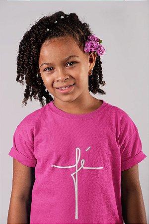 Camisa Infantil Rosa Pink Fé