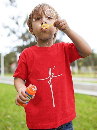Camisa Infantil Vermelha Fé