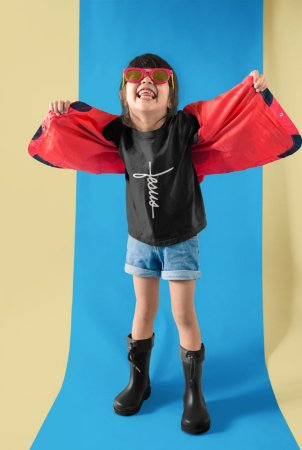 Camisa Infantil Preta Jesus