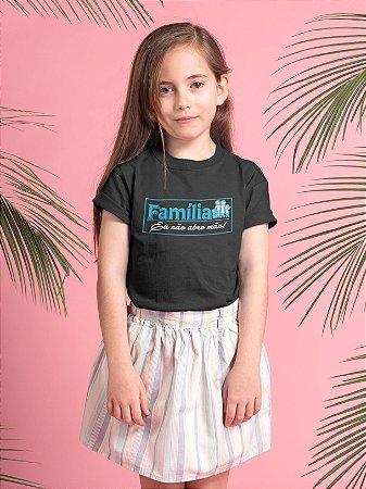 Camisa Infantil Preta Família