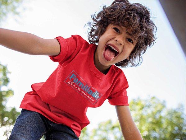 Camisa Infantil Vermelha Família