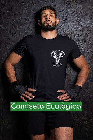 Camiseta Ecológica Preta Save Elephant - UNISSEX