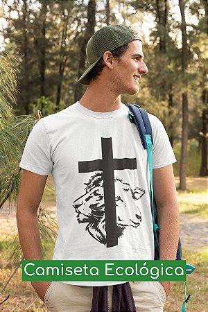 Camiseta Ecológica Branca Cordeiro e Leão - UNISSEX