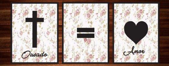 Quadro Decorativo Ousado Amor - Trio