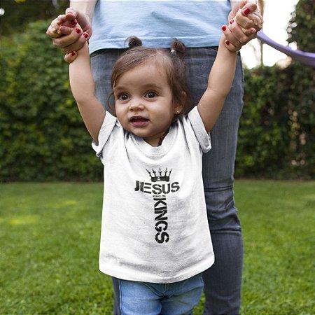 Camiseta Infantil Branca King Of Kings