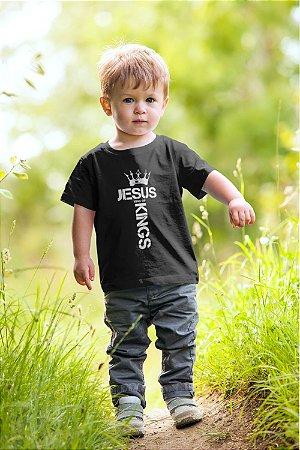 Camiseta Infantil Preta King of Kings