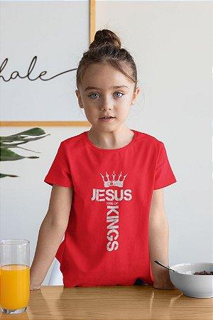 Camiseta Infantil Vermelha King Of Kings