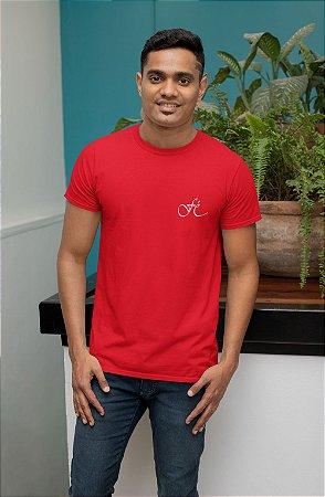 Camiseta Vermelha Fé - Peito