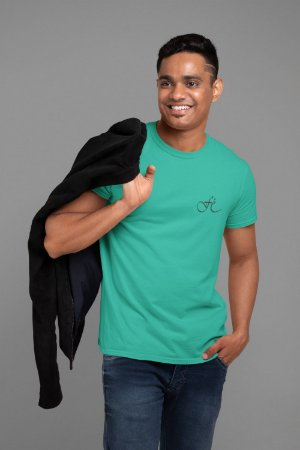 Camiseta Turquesa Fé - Peito