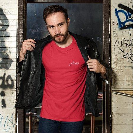 Camiseta Vermelha Jesus - Peito