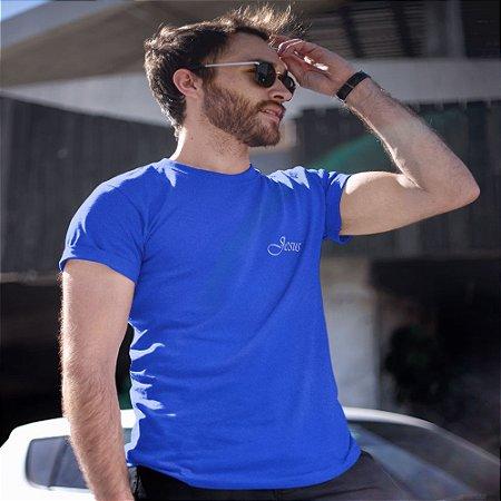 Camiseta Azul Jesus - Peito