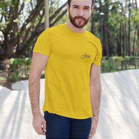 Camiseta Amarela Jesus - Peito