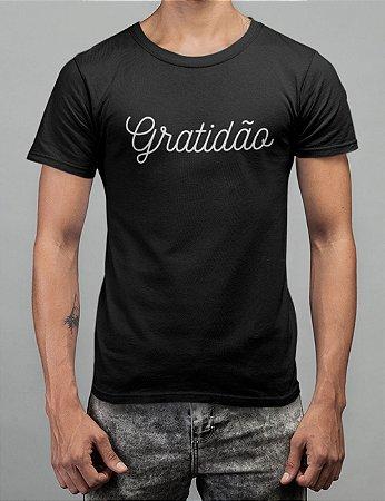 Camiseta Preta Gratidão