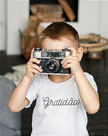 Camiseta Infantil Branca Gratidão