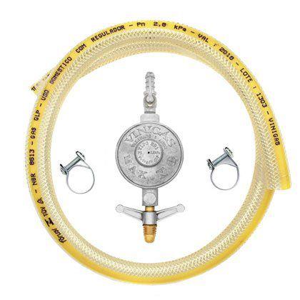 Regulador para Gás Vinigas com Mangueira 125cm
