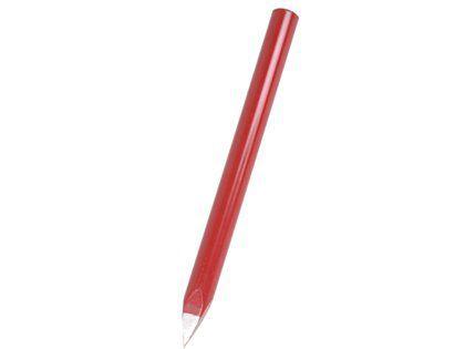 """Ponteiro de Aço Pacetta Liso Redondo 12"""" Vermelho"""