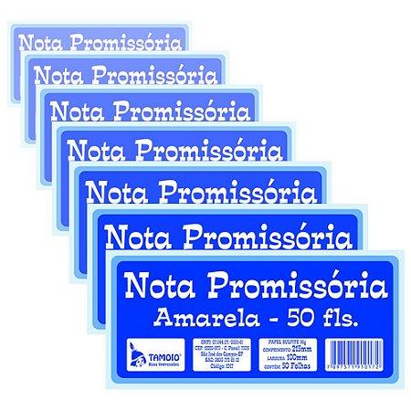 Bloco Nota Promissória Tamoio Amarela 1017 - 20 Blocos com 50 Folhas