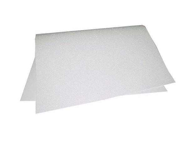Folha Eva DubFlex Branco Com Glitter 40x60cm 5 folhas