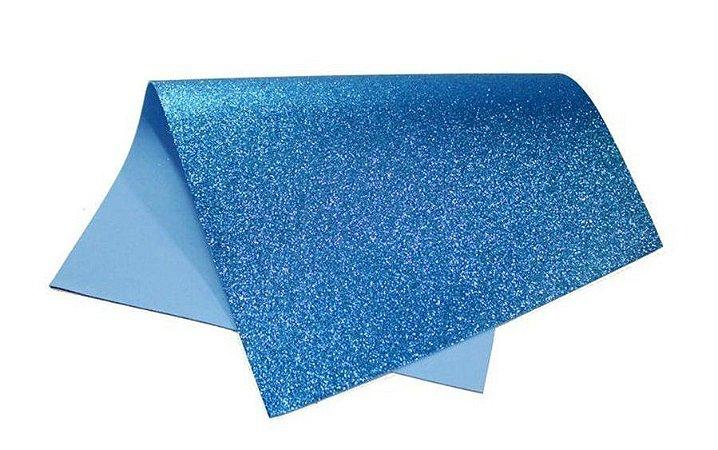Folha Eva DubFlex Azul Claro Com Glitter 40x60cm 5 folhas