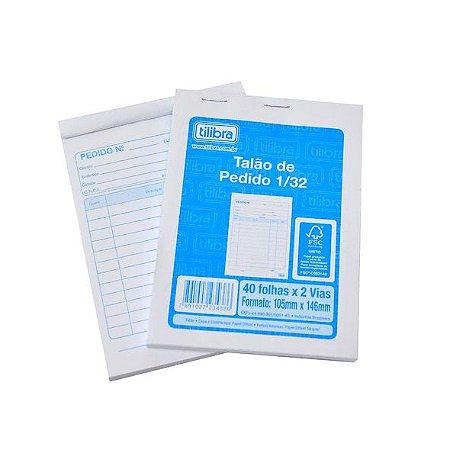 Talão de Pedido Imprimo Pequeno Impresso 234389 40x2 20 Blocos com 40 Unidades
