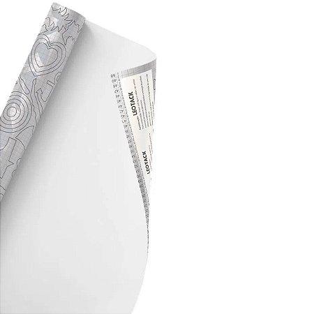 Plástico Adesivo Leoarte Colors Branco 45cm x 10m 80 Micras