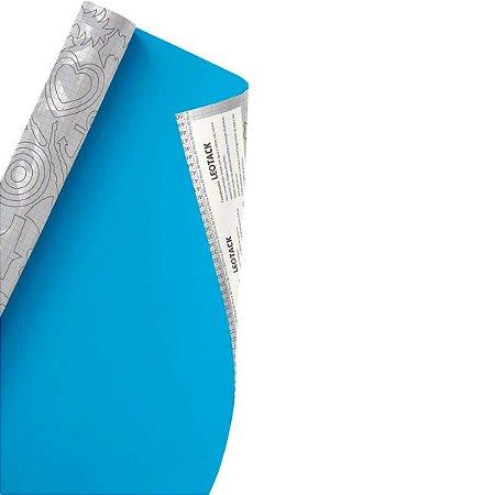Plástico Adesivo Leoarte Colors Azul 45cm x 10m 80 Micras