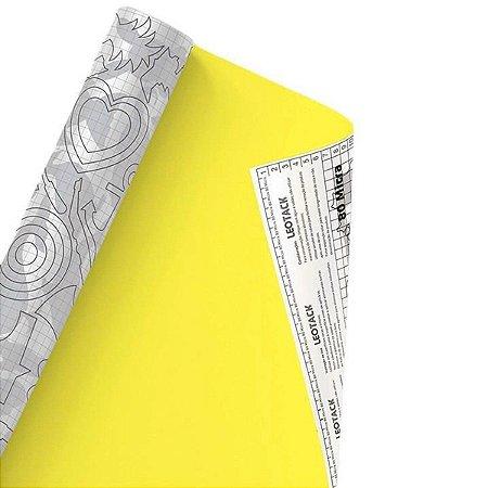 Plástico Adesivo Leoarte Colors Amarelo 45cm x 10m 80 Micras