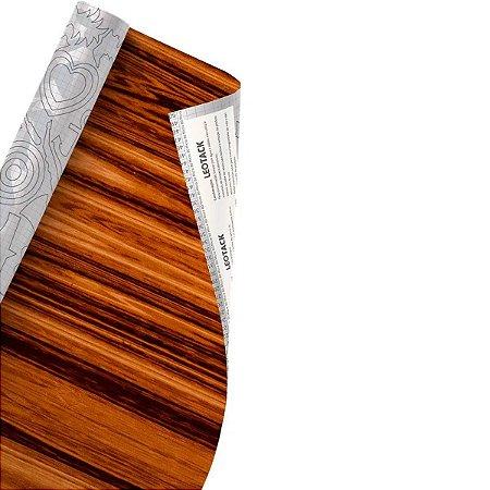 Plástico Adesivo Leoarte Madeira Jacarandá 45cm x 10m 80 Micras