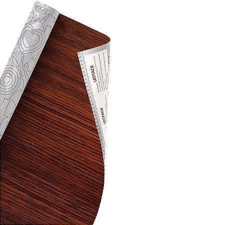 Plástico Adesivo Leoarte Madeira Tabaco 45cm x 10m 80 Micras