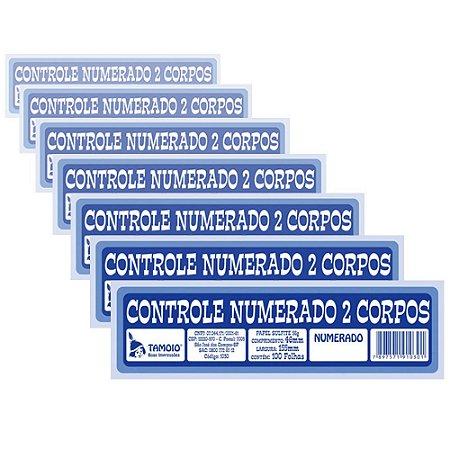 Bloco Controle Numerado Tamoio Dois Corpos 1030 - 20 Blocos com 100 Folhas Cada