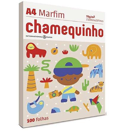 Papel Sulfite Chamequinho A4 100 Folhas Marfim