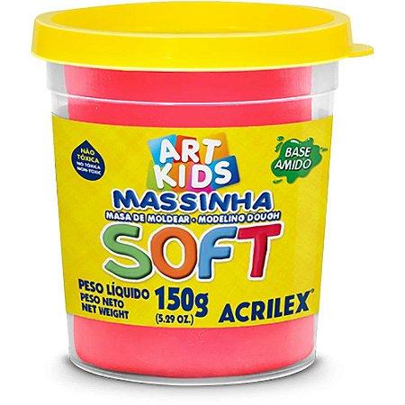 Massa de Modelar Soft Acrilex 150g Vermelho 103