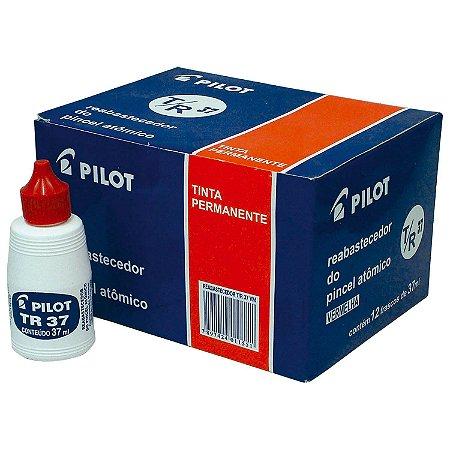 Tinta para Marcador Permanente Pilot Vermelha 37ml - Caixa com 12 Unidades