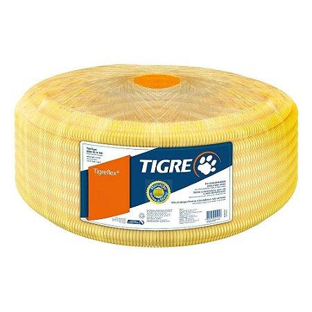 Eletroduto Corrugado TigreFlex 25mm ou 3/4 Amarelo com 25 Metros