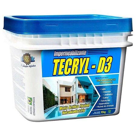 Manta Acrílica Impermeabilizante Tecryl D3 Balde 18Kg Cinza